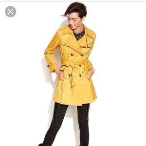 NWT Michael Kors yellow trench coat M